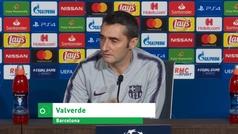 """Valverde: ?¿Que somos defensivos? Ya lo veremos mañana"""""""