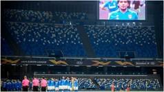 Así fue en Nápoles el minuto de silencio más conmovedor de la historia del fútbol