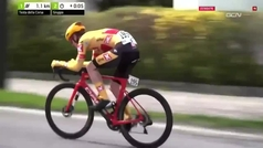 """La UCI se 'descuida' en el Tour de los Alpes: """"Uno de los finales más aterradores que he hecho"""""""