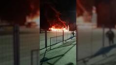 Incendio de las MotoE en Jerez