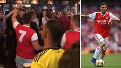 """El genial cántico a Ceballos de la afición del Arsenal: """"Bebe Estrella y come paella"""""""