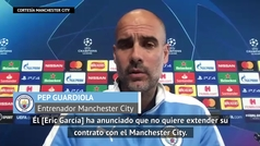 """Guardiola sobre Eric García: """"No quiere renovar con nosotros"""""""