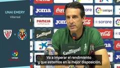 """Emery: """"Nos espera un partido brutal ante el equipo que más corre de LaLiga"""""""