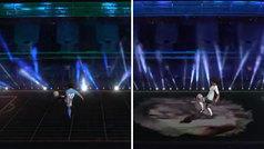 Brutal homenaje 3D a Maradona: un holograma del '10' da toques al ritmo de 'Life is Life'