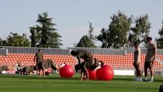 El Atlético vuelve al trabajo ya sin Morata
