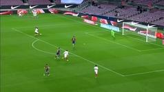 Penalti de Mingueza a Ocampos: paró Ter Stegen... pero Messi protestó la decisión del árbitro