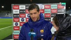Sergi Roberto analiza la derrota del Barça en el Clásico