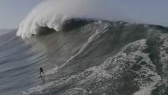 """La experiencia rozando a la muerte en la temida ola gigante de Nazaré: """"Casi muero"""""""