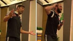 El recital musical de los 'novatos' Buffon e Higuaín en la comida de la Juventus