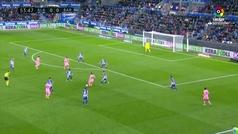 Gol de Oro (J34). Gol de Aleñá (0-1) en el Alavés 0-1 Barcelona