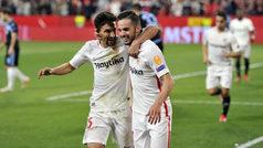 Europa League (1/16, vuelta): Resumen y goles del Sevilla 2-0 Lazio