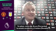 """Solskjaer, sobre el penalti fallado por Bruno Fernandes: """"Consiguieron lo que querían"""""""
