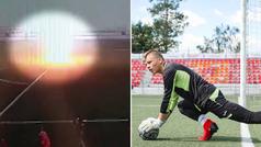 Un futbolista ruso al que le cae un rayo encima