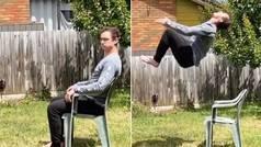 La forma más extravagante y acrobática de levantarte de una silla