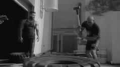 El titánico entrenamiento de Holyfield junto a Klitschko para su duelo con Tyson