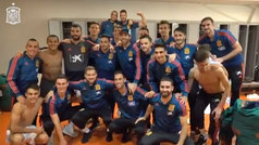 """La liberación de los jugadores de España en el vestuario: """"Hemos venido a sufrir aquí"""""""