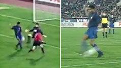 Kluivert ya marcó al Mallorca un golazo de 'rabona de tacón' como el de Luis Suárez