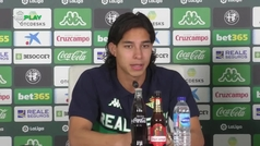 "Diego Lainez: ""La mejor decisión fue venir al Real Betis"""