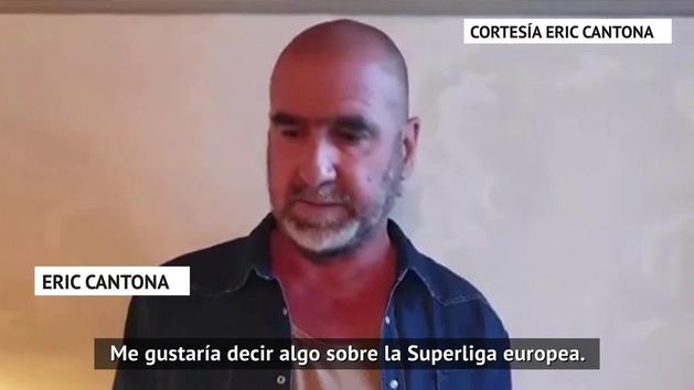 Otra leyenda que cuestiona la Superliga, Cantona se pone del lado de las aficiones