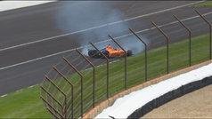 Así fue el accidente de Fernando Alonso en Indianápolis