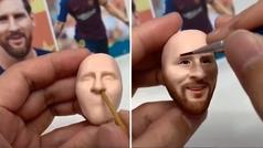 La obra de arte con la cara de Messi en plastilina que enamora a la red