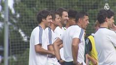 Así fue el primer día de Raúl como técnico de la cantera del Real Madrid