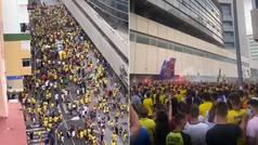 La distancia de seguridad no existe en Cádiz: así estaba el Carranza a dos horas del partido