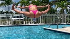 La Kournikova de la UFC se pega la zambullida más flexible del verano