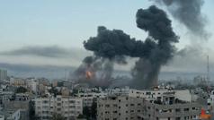 Momento exacto de uno de los ataques en Gaza: estremece