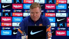 """Koeman: """"Messi lleva los mismos tantos que todos atacantes juntos, necesita ayuda de los demás"""""""
