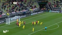 Gol de Cavani (1-1) en el Villarreal (11) 1-1 (10) Manchester United