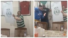 Increíble alegría y fiesta de la madre de Cristiano tras el empate del Sporting ante el Oporto