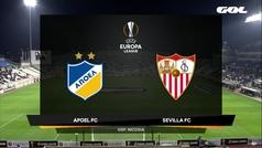 Europa League (Grupo A): Resumen y goles del APOEL 1-0 Sevilla
