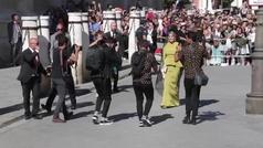 La llegada de Pilar Rubio y Sergio Ramos a la iglesia