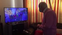 Emocionante y tierno: Así celebró el abuelo de Bennett su triunfo en París