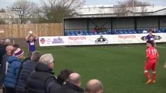Increíble gol en el fútbol amateur