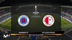 Europa League (octavos, vuelta): Resumen y goles del Rangers 0-2 Slavia Praga