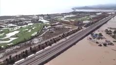 Impresionantes imágenes aéreas de las inundaciones en Murcia