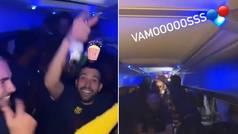 Así fue la fiesta 'loca' del Barcelona en el autobús: reguetón, cerveza y bailecitos