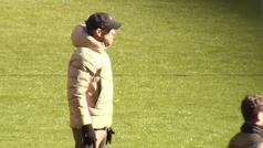 Dembélé sigue adaptándose a un Atlético con la plantilla casi al completo