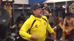 Maradona y los jugadores de Dorados celebran con baile su pase a la final