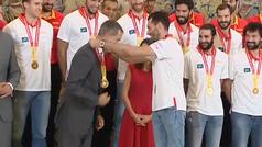 Los reyes reciben en Zarzuela a la selección española de baloncesto