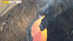 Hipnóticas imágenes de los ríos de lava que ha creado la boca norte