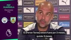 """Guardiola: """"Ferran Torres estará 2 o 3 meses de baja"""""""
