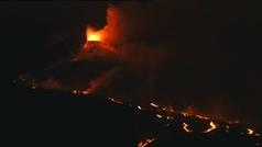 Nuevo derrumbe del cono principal del volcán de La Palma