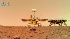 Muestran las primeras imágenes de Zhurong, el rover de China, en Marte