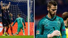 El partido de De Gea en Zagreb: tres paradas y tres goles encajados