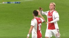 El Ajax vence una semana después de asaltar el Bernabéu con otro golazo de Tadic