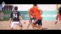 Por esto ha ganado Llorenç Gómez el premio a mejor jugador del mundo de fútbol playa