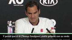 """Federer: """"No me creía lo de las siete bolas de partido, pensaba que eran tres"""""""